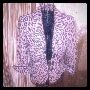 NWOT Bebe leopard print jacket